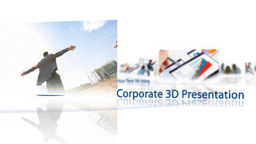 Corporate 3D Presentation stock footage
