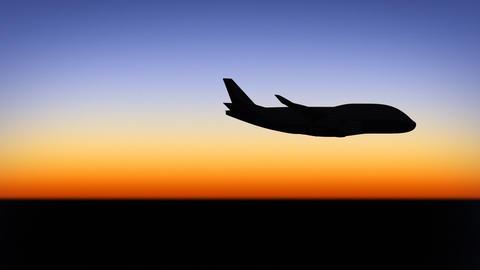 Night flight Stock Video Footage