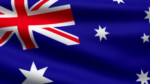 Australian flag Animation