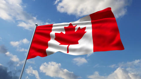Canadian flag Stock Video Footage