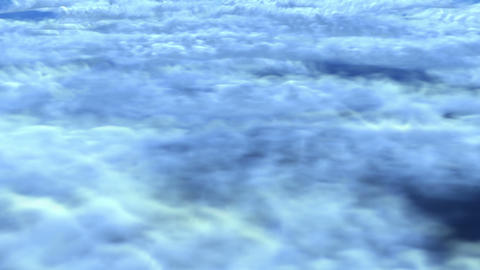 night flight over clouds Animation
