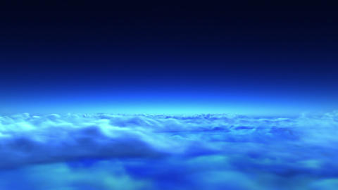 flight over clouds Animation