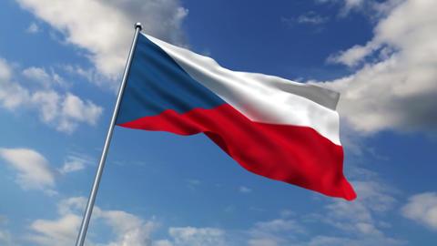 Czech flag Stock Video Footage