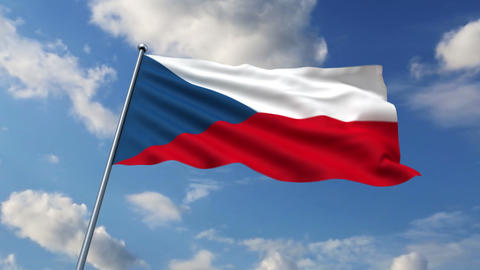Czech flag Animation