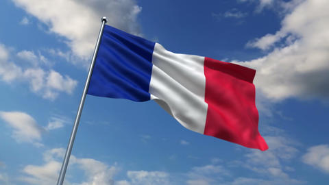 French flag Stock Video Footage
