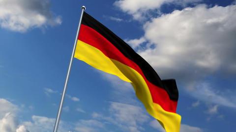 German flag Stock Video Footage