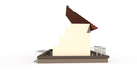 Time lapse animation of a building house Animation