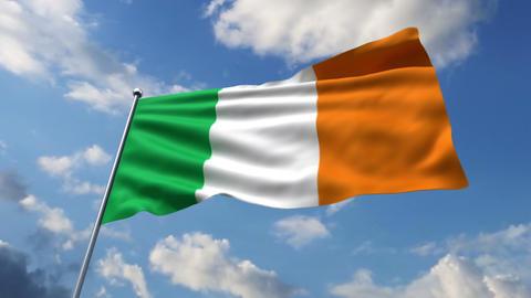 Irish flag Stock Video Footage