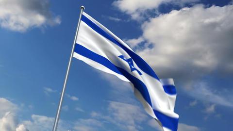 Israeli flag Stock Video Footage