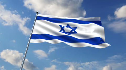 Israeli flag Stock Video Footage