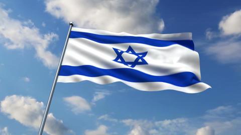 Israeli flag Animation