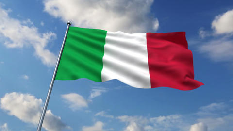 Italian flag Stock Video Footage