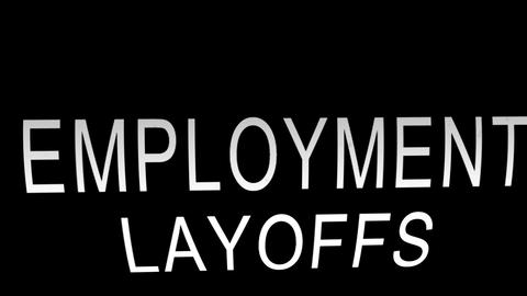 Employment Layoffs stock footage