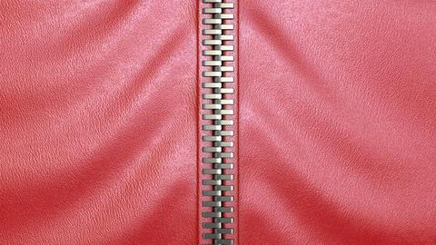 unzipping a zipper Stock Video Footage