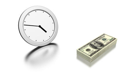 time is money Stock Video Footage