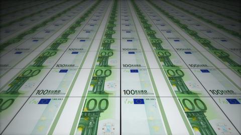 Money conveyor, euro Stock Video Footage