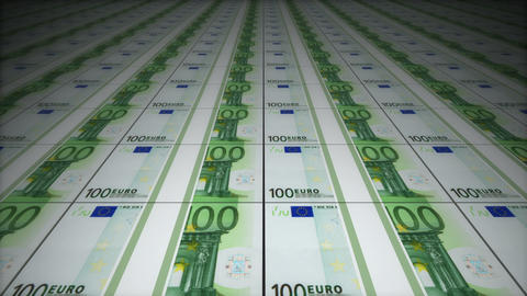 Money conveyor, euro Animation
