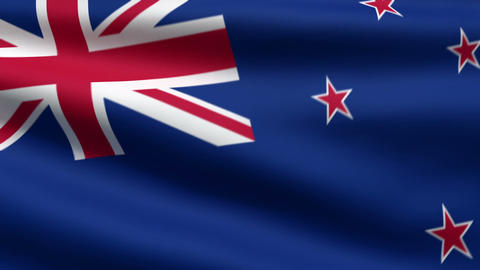 New Zealand flag Stock Video Footage