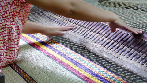 Weaving a matras Footage