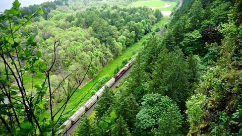 Train Passing Below Footage