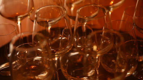 Drink Glass In The Bar stock footage