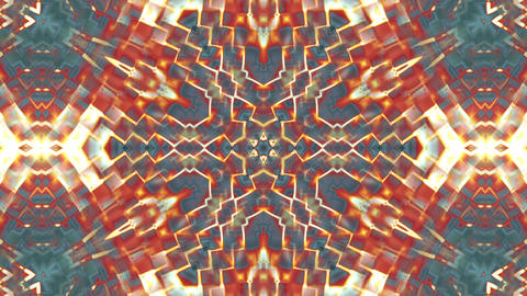 Hypnotic Orange Complex Intricate Kaleidoscope 3 Animación