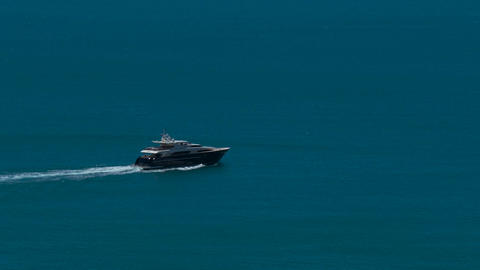 Motor yacht in the sea 영상물