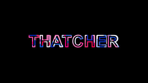 Letters are collected in Person of the World Politics THATCHER, then scattered Animation
