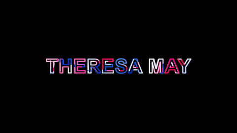 Letters are collected in Person of the World Politics THERESA MAY, then Animation