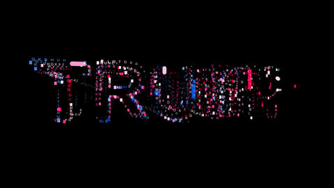 Letters are collected in Person of the World Politics TRUMP, then scattered into Animation