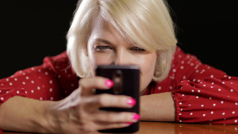 Attractive Woman Messaging On Her Phone Stock Video Footage