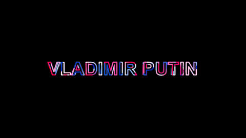 Letters are collected in Person of the World Politics VLADIMIR PUTIN, then Animation