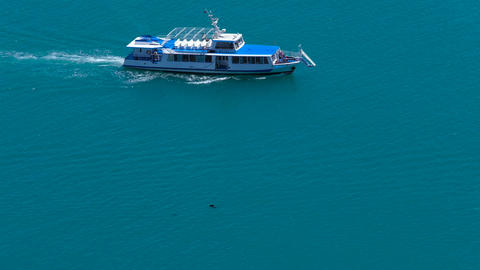Motor yacht in the sea Image