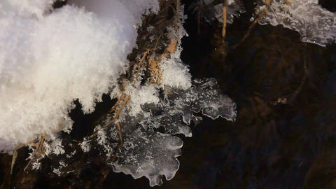 coast of the ice-free winter creek 画像