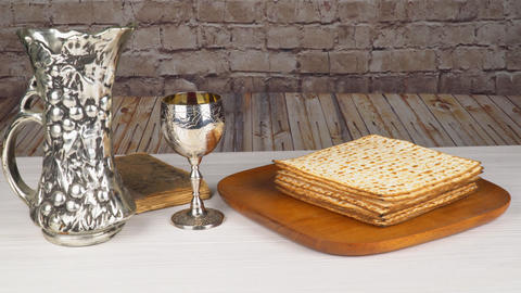Passover Seder Plate with The seventh symbolic item used during the seder meal Archivo