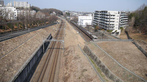 (Time Lapse) Railways in the suburb of Tokyo 영상물