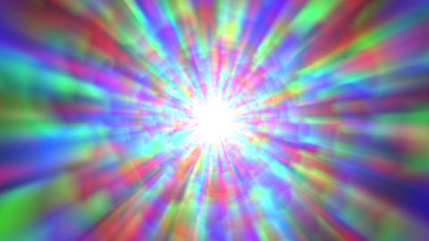 Psychedelic Colorful Bright Burst Glow Abstract Motion Background Slow Rotating Animation