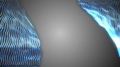 blue electrical lines and gray background. data transfer. holographic series Footage
