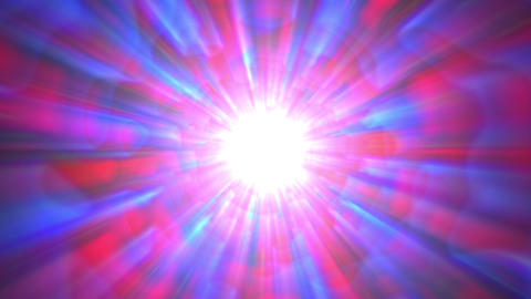 Psychedelic Blue Red Bright Burst Glow Abstract Motion Background Slow Rotating Animación