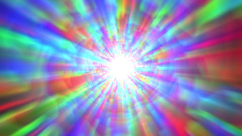 Psychedelic Colorful Bright Burst Glow Abstract Motion Background Slow Animation