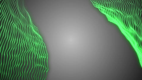 digital wind. mathematical constructions. old computer style. green holographic Footage