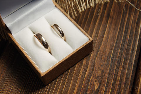 Golden wedding rings Photo