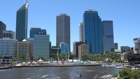 Cityscape of Perth, Western Australia Footage