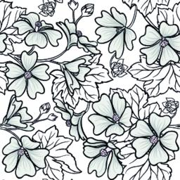 malva seamless pattern Vector