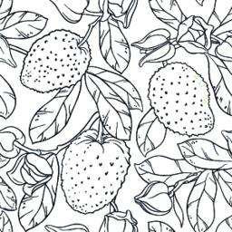 soursop seamless pattern Vector