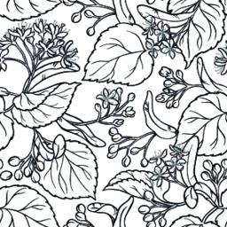 linden seamless pattern Vector