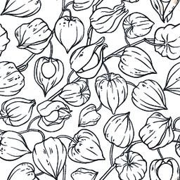 phisalis seamless pattern Vector