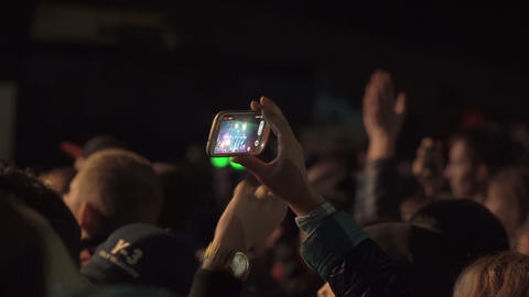 Crowd partying at a rock concert Footage