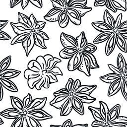 anise seamless pattern Vector