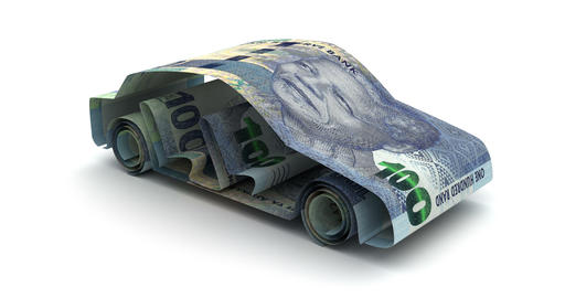 Car Finance with South African Rand Animation